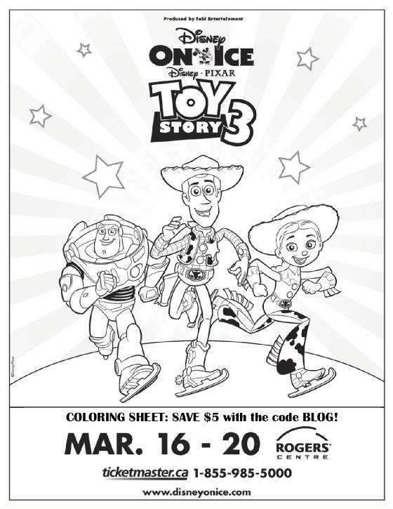 Toy Story 3 Coloring Sheet